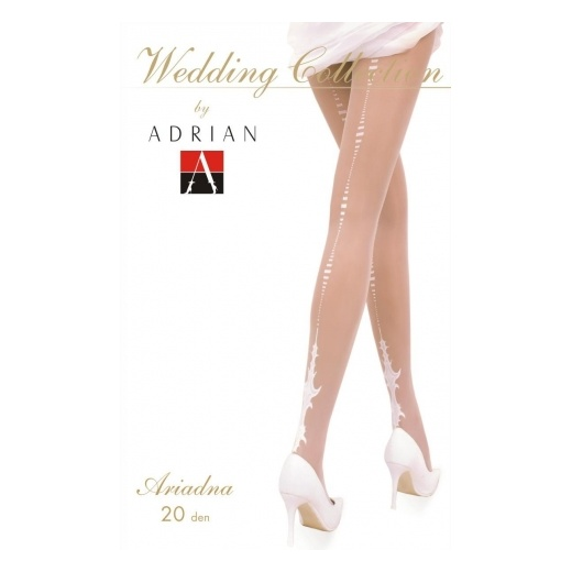 ARIADNA 20 Denier Patterned Wedding Tights