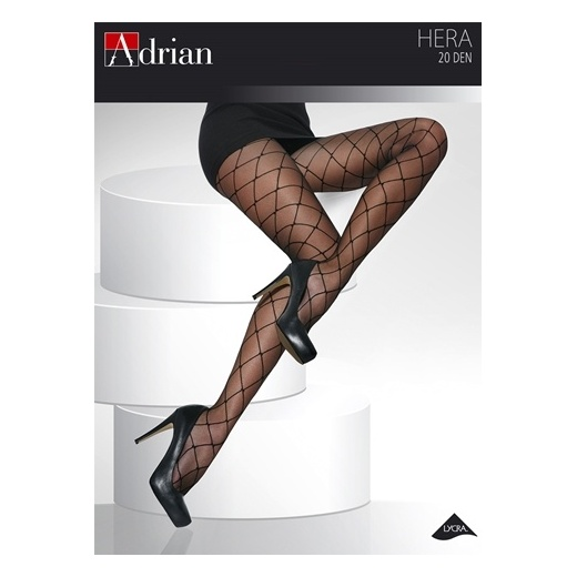 Adrian HERA + Size 20 Denier Diamond Patterned Tights
