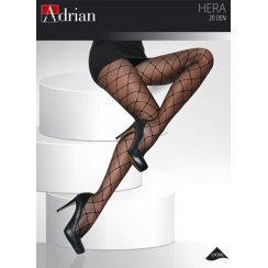 HERA + Size 20 Denier Diamond Patterned Tights
