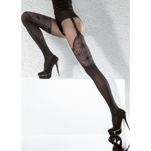 Fiore AGATHA 40 Denier Tights With Hold Up Pattern