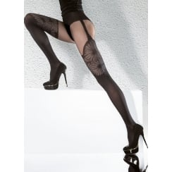 AGATHA 40 Denier Tights With Hold Up Pattern