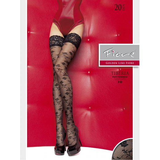 Fiore Tiberia 20 Denier Patterned 3D Hold-Ups