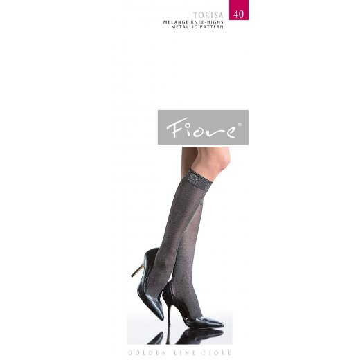 Fiore TORISA 40 Denier Metalic Knee Highs