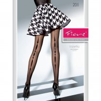 VALETTA 20 Denier Patterned Diamond Back Seem Tights
