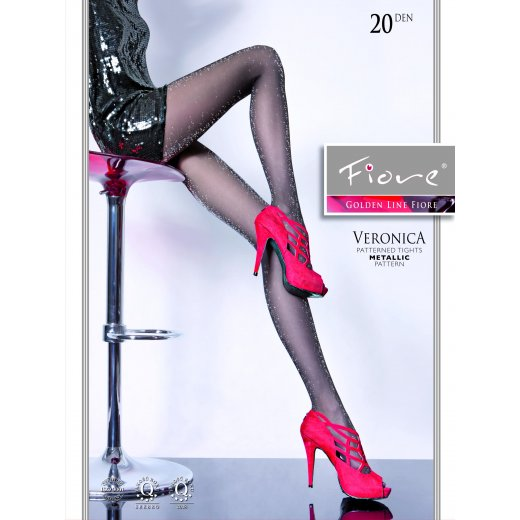 Fiore VERONICA 20 Denier Glitter Patterned Tights