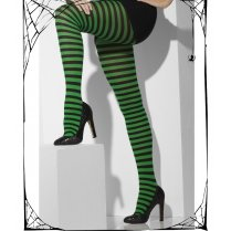 Green & Black Stripey Tights