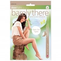1 Pack Barely There Open Toe Tights