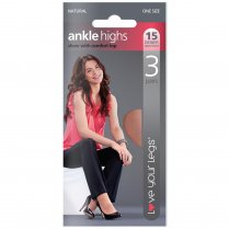3 Pack 15 Denier Ankle Highs