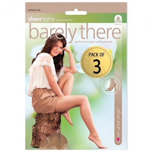Love Your Legs 3 Pack Barley There Tights