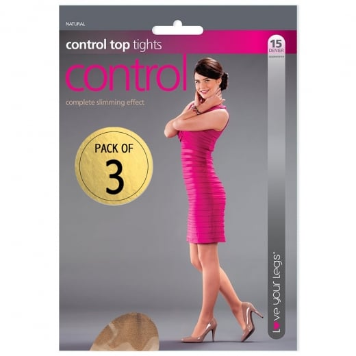 Love Your Legs 3 Pack Control Top Tights