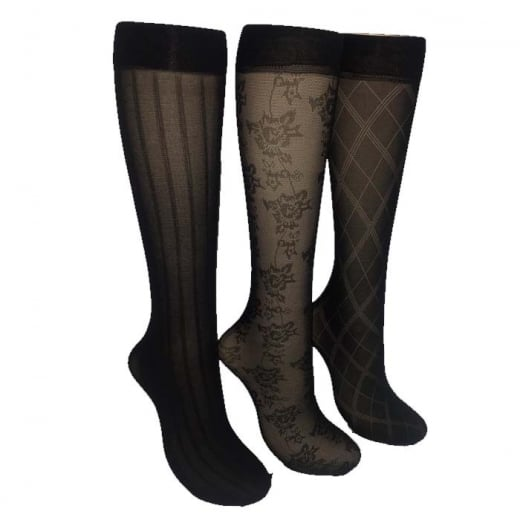 Love Your Legs 3 Pack Fashion Knee Highs