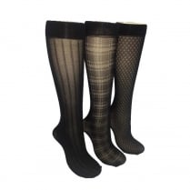 3 Pack Fashion Knee Highs