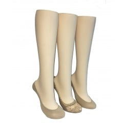 3 Pack Nude Fashion Footlets