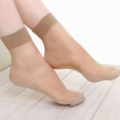 4PK ANKLE SOCKS SHOELINERS