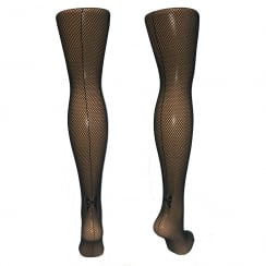 Fishnets With Back Bow Seam