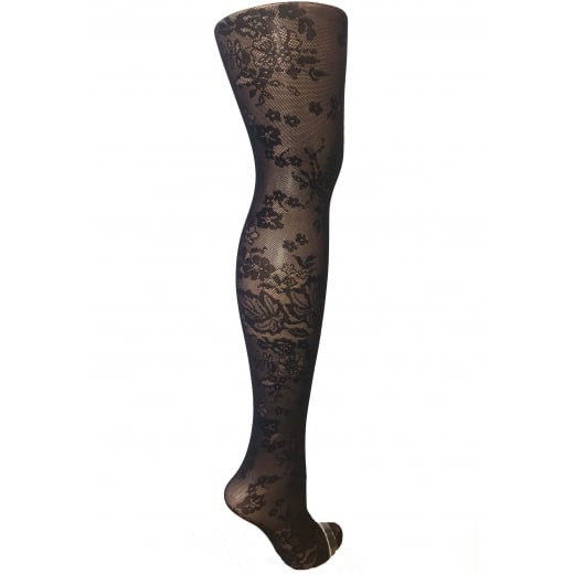Love Your Legs Floral Patterned Fishnet Tights