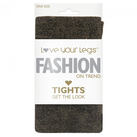 Love Your Legs Gold Glitter Tights