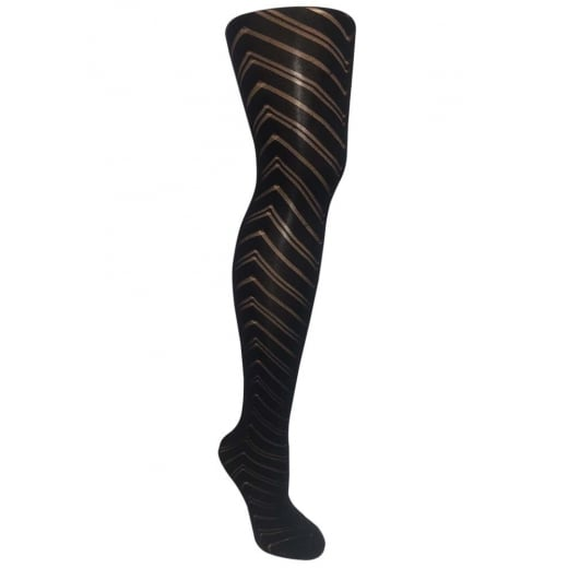 Love Your Legs Large ZigZag Triangle Patterned Tights