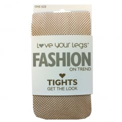 Micronet Nude Fishnet Tights
