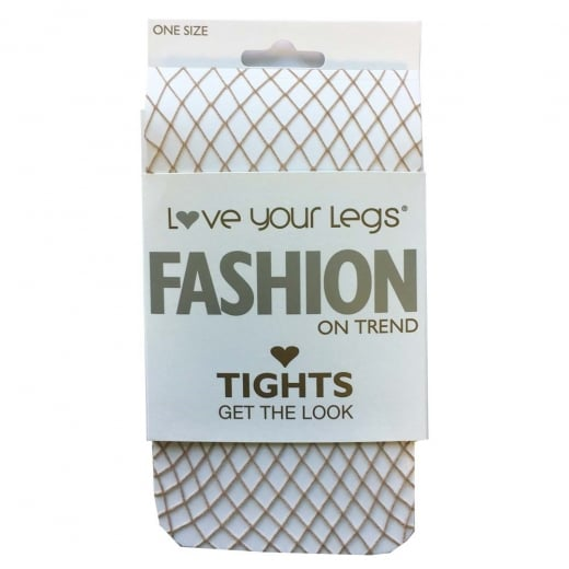 Love Your Legs Nude Fishnet Tights