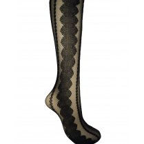 On Trend Fashion Repeat Circle Pattern Tights