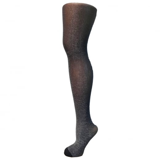 Love Your Legs Sheer Silver/Navy Glitter Tights