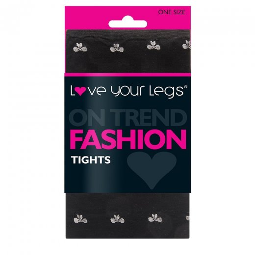 Love Your Legs White Bow Fashion Tights