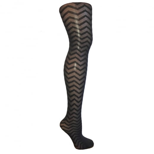 Love Your Legs Zig Zag Mesh Patterned Tights