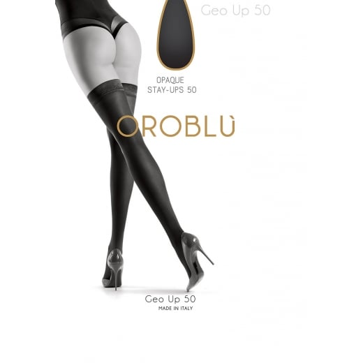 Oroblu Stay Up Geo 50 Denier Hold Ups