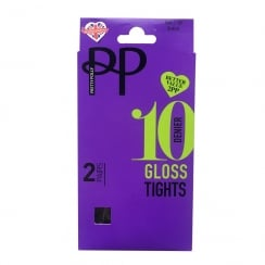 2 Pack 10 Denier Gloss Tights