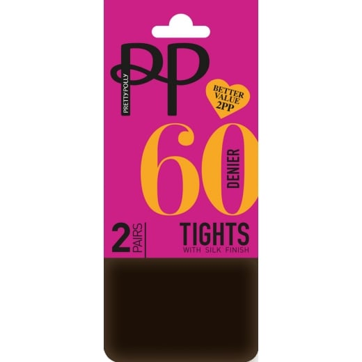 Pretty Polly 2 Pack 60 Denier Opaque Tights