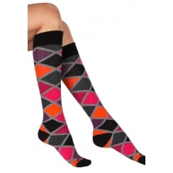 2 Pack Argyle Knee High Socks