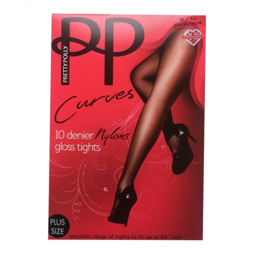 Pretty Polly CURVES 10 DENIER SHEER TIGHTS