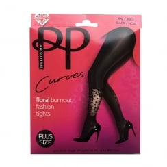 CURVES FLORAL PATTERN TIGHTS