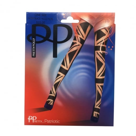 Pretty Polly Patriotic Union Jack Tights