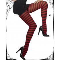 Red & Black Stripey Tights