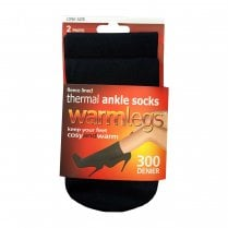 Warmlegs 2 Pack Fleece Lined Ankle Highs
