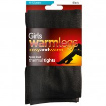 Children's Black Fleece Lined Tights