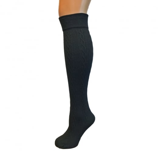 Fleece Lined Cable Knee Highs