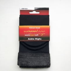 Velvet Lined Ankle High Socks