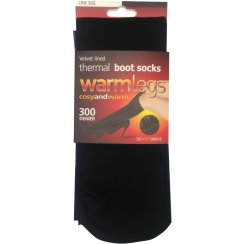 Warmlegs velvet lined thermal boot socks