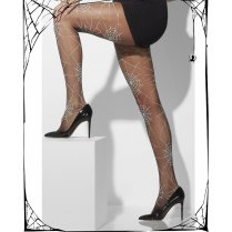 White Spider Web Design Tights